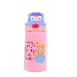 kid insulated water bottle with straw lid