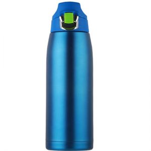 insulated sports water bottle with push button
