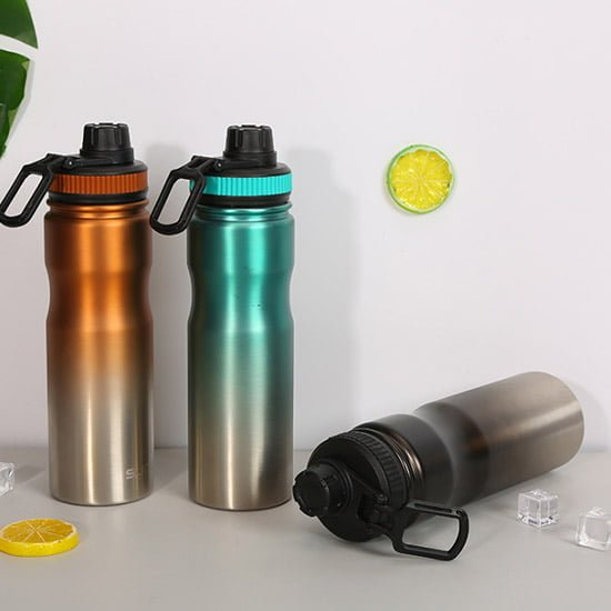 insulated sports water bottle with lid