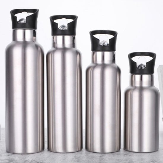 insulated sports water bottle with straw lid