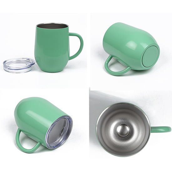 insulated coffee mug wine cup with handle