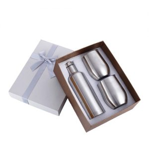 stainless steel insulated tumbler wine bottle set
