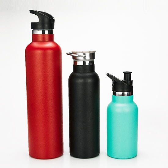 insulated water bottle with optional lid