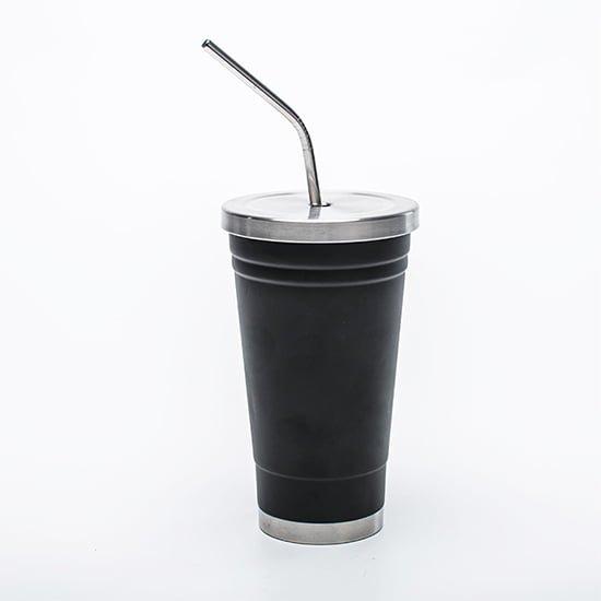 insulated mug with staw