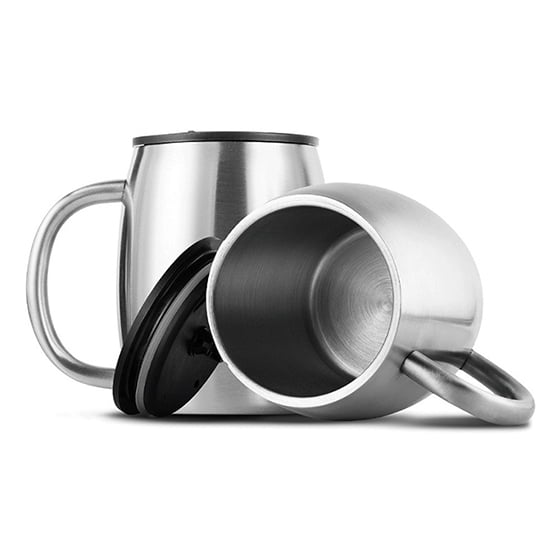 insulatef tumbler with handle&lid