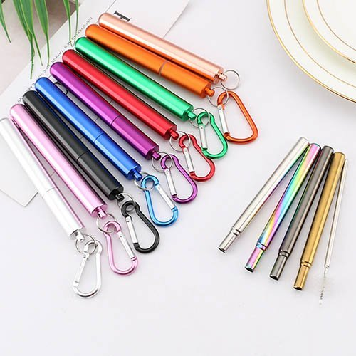 multi-funtcion metal straw with bottle opener