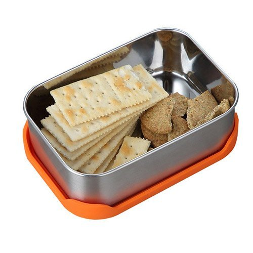 rectangle bento box with silicone lid