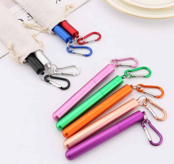 portable collapsible straw foldable straw