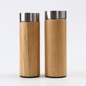 bamboo thermos bottle with filter