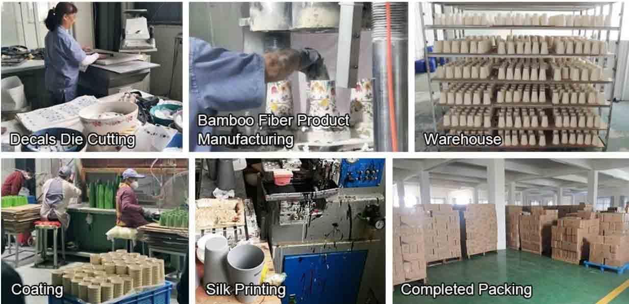 bamboo fiber drinkware production process