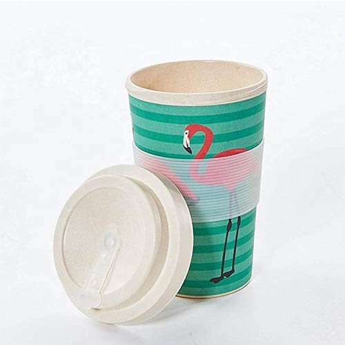 bamboo fiber coffee mug screw lid