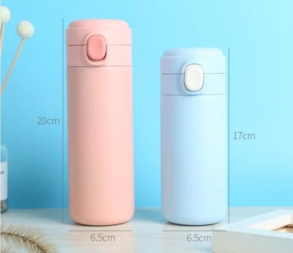 stainless steel water bottle push button