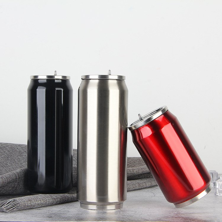 Homii Bottles Double Wall Insulated Stainless Steel Can Koozie Cooler Tumbler With Straw 12oz 17oz Hot And Cold Thermal Drinking Mug Reusable Bpa Free