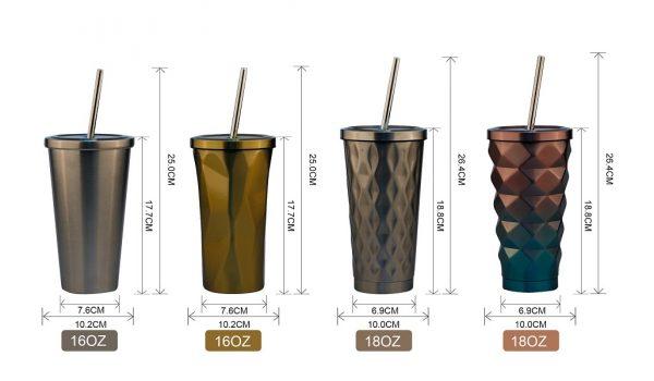 Homii Steel bottle with straw